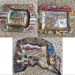 Hawaii Colorado Alaska Souvenir Trinket Ashtray
